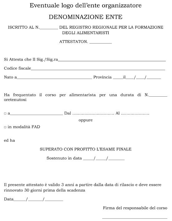 Formazione Regione Sicilia HACCP