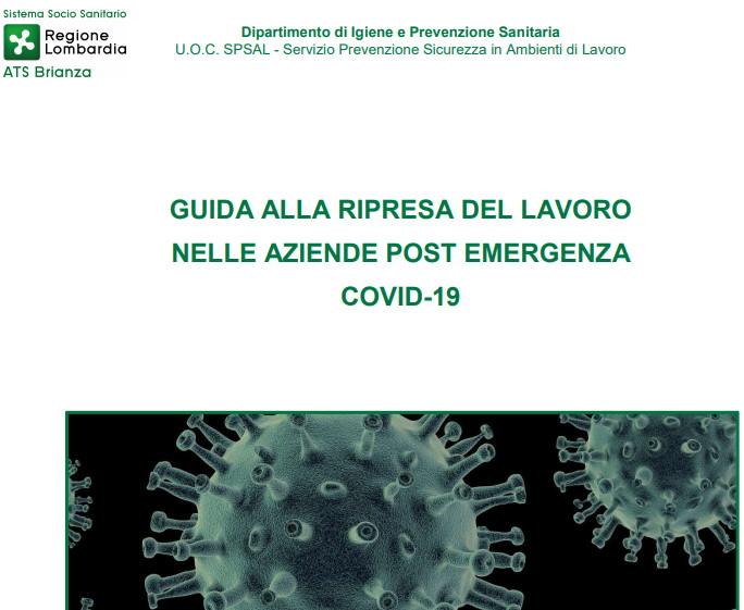 RIPRESA DEL LAVORO NELLE AZIENDE POST EMERGENZA COVID-19