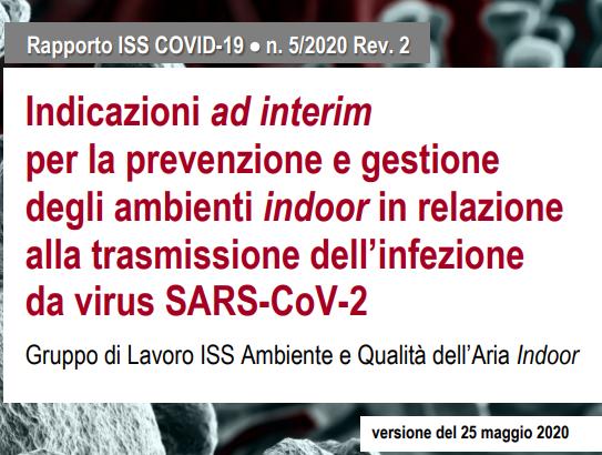 Istituto Superiore di Sanità relazione alla trasmissione dell'infezione da virus SARS-CoV-2