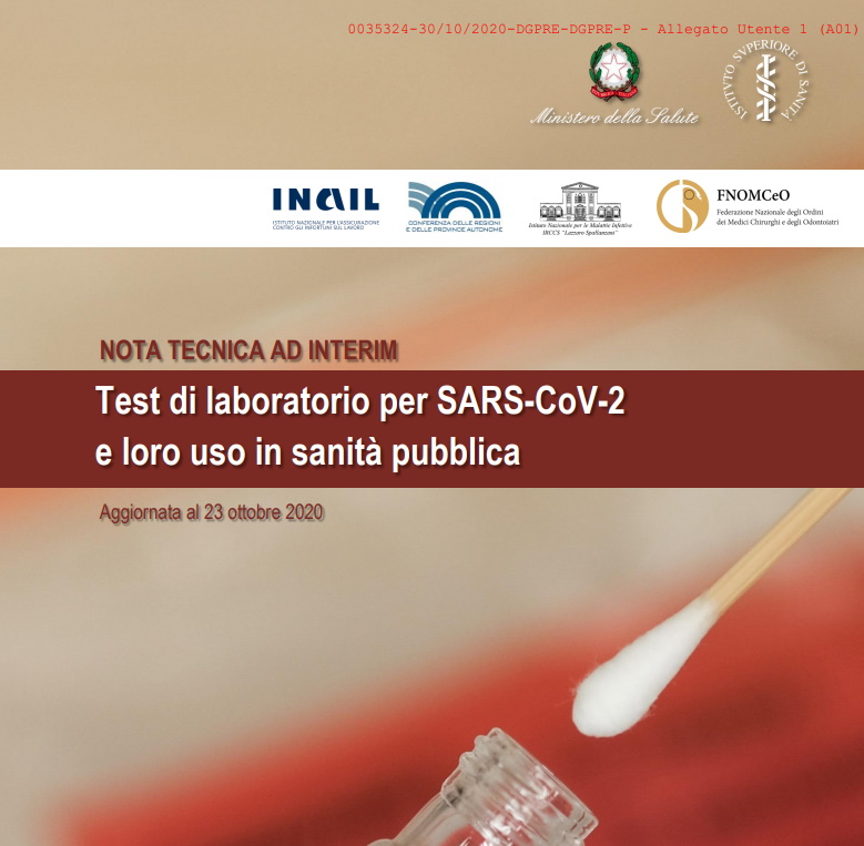 Test di laboratorio per SARS-CoV-2 e loro uso in sanità pubblica